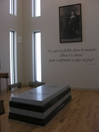 Visit to the tomb of Elisabeth Bergeron